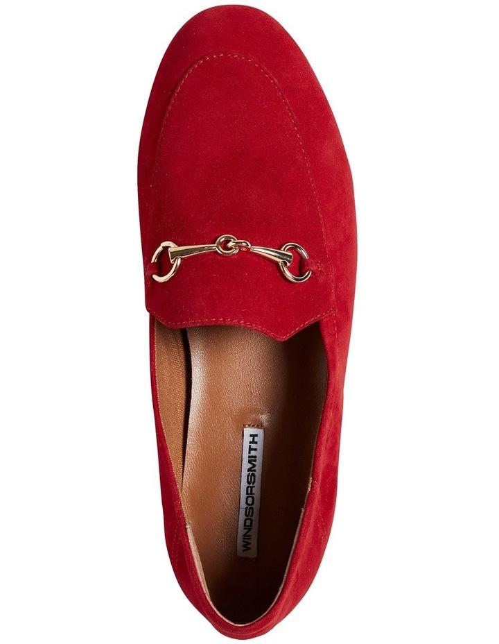 Dani Crimson Red Suede Loafer image 3