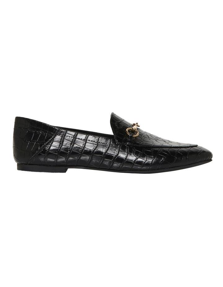 Dani Black Croc Print Leather Loafer image 1