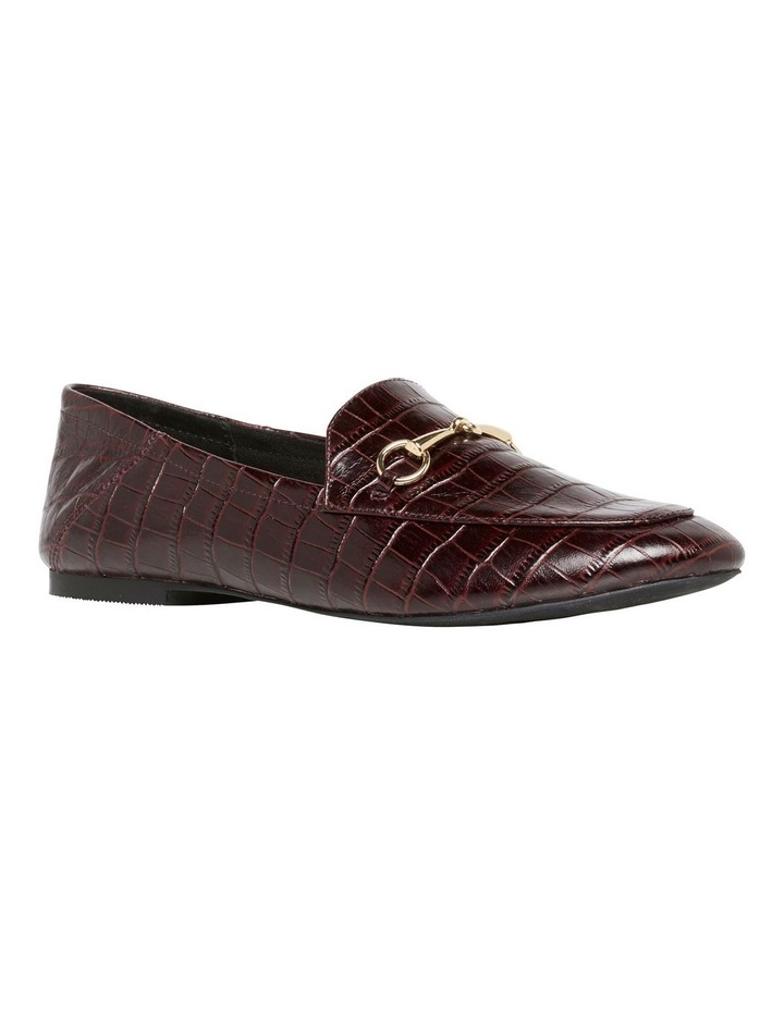 Dani Bordeaux Matte Croc Leather Loafer image 2