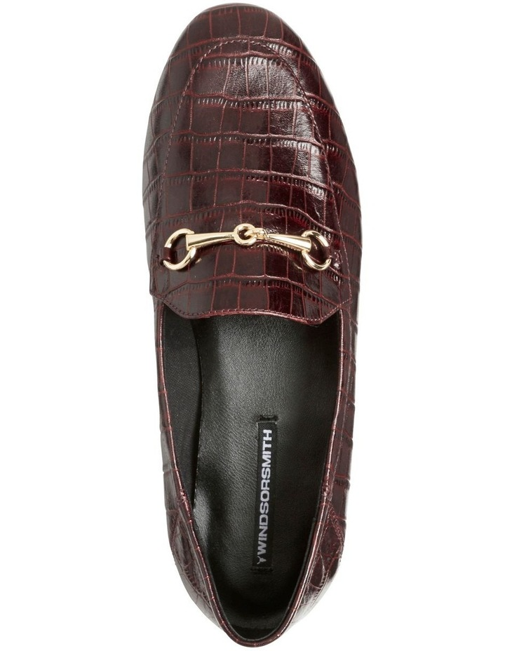 Dani Bordeaux Matte Croc Leather Loafer image 4