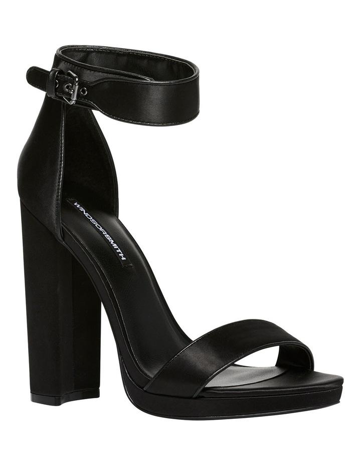 Rianne Black Satin Sandal image 2