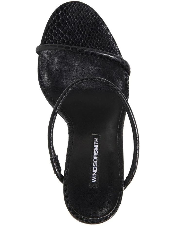 Portofino Black Snake Print Sandal image 3