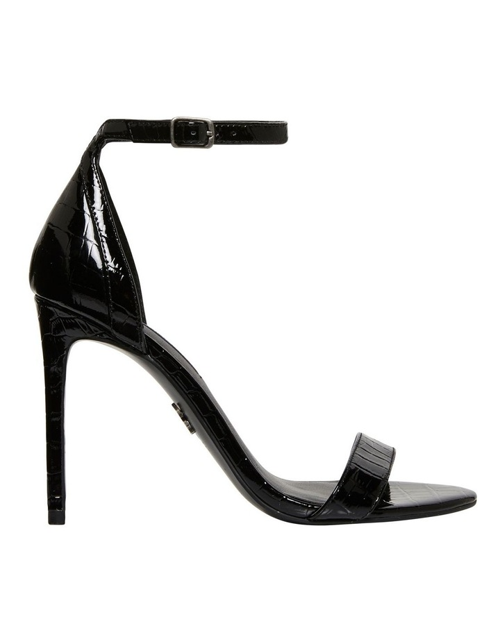 Pasadena Black Croc Patent Leather Sandal image 1