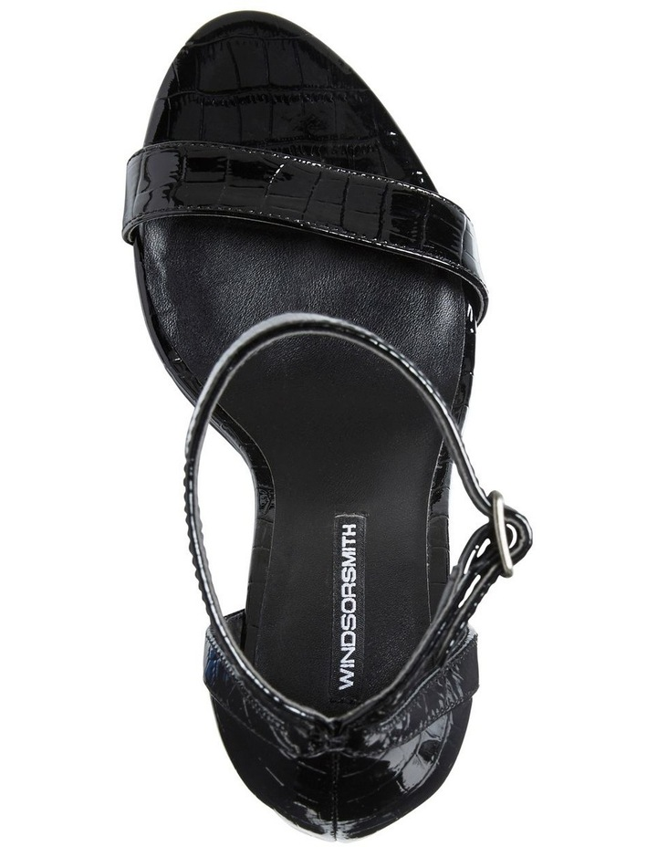 Pasadena Black Croc Patent Leather Sandal image 4