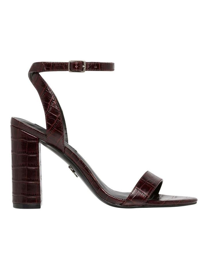 Indigo Bordeaux Matte Croc Leather Sandal image 1