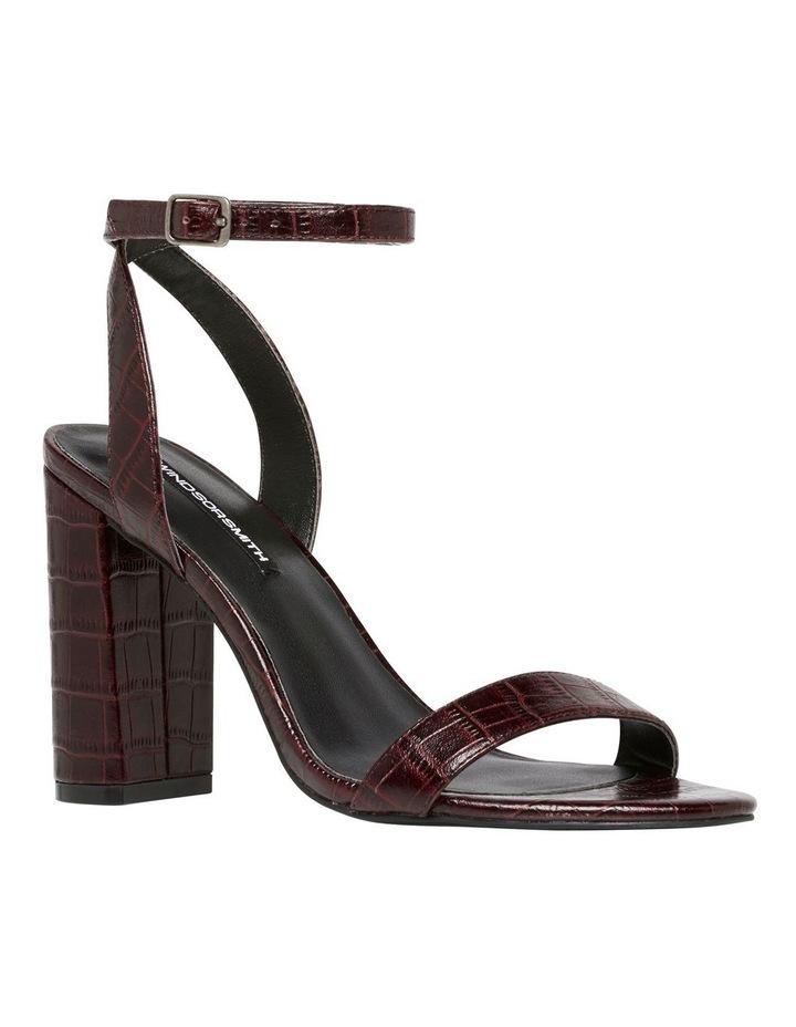 Indigo Bordeaux Matte Croc Leather Sandal image 2