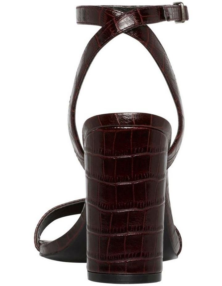 Indigo Bordeaux Matte Croc Leather Sandal image 3
