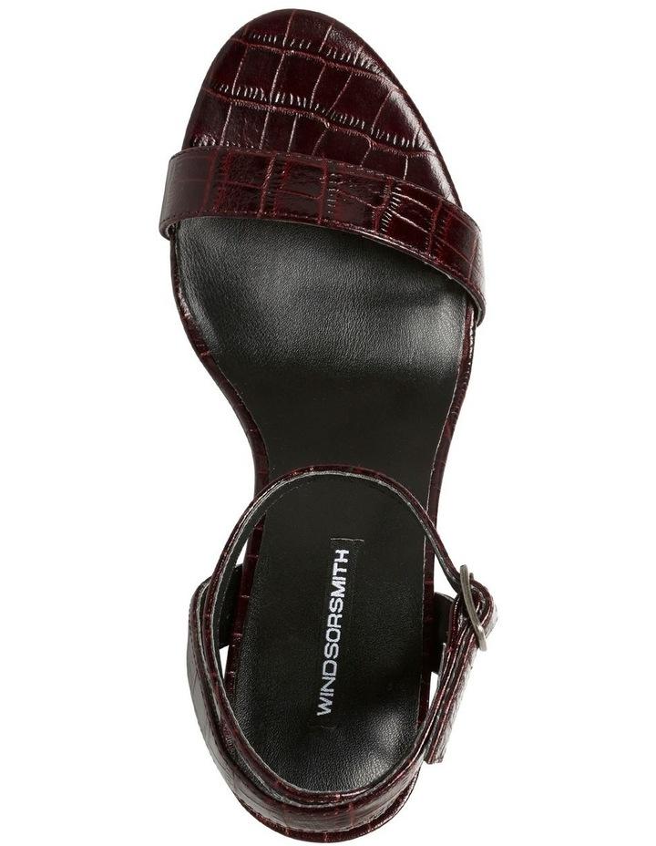 Indigo Bordeaux Matte Croc Leather Sandal image 4