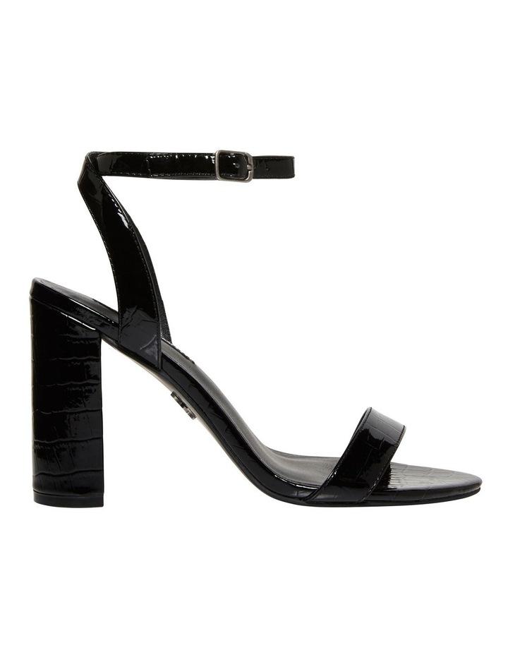 Indigo Black Croc Patent Leather Sandal image 1