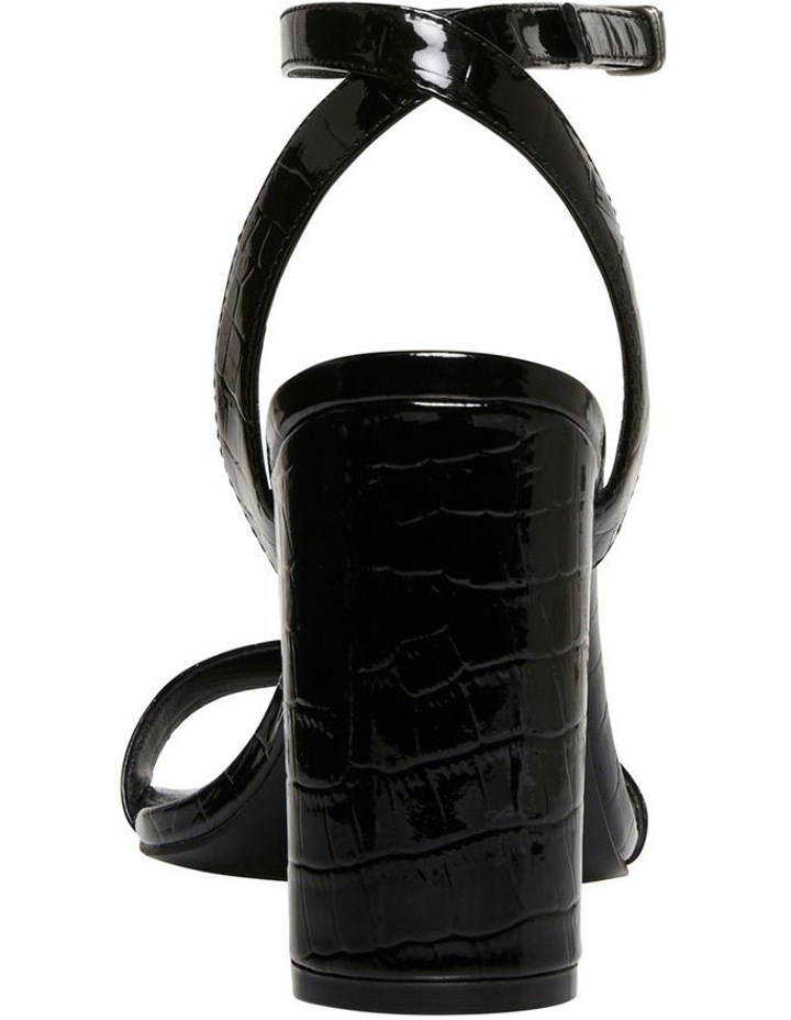 Indigo Black Croc Patent Leather Sandal image 3
