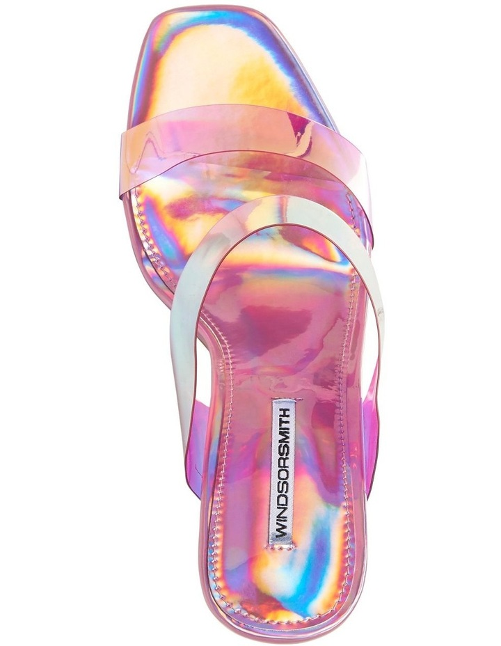 Flossy Pink Holographic Sandal image 5