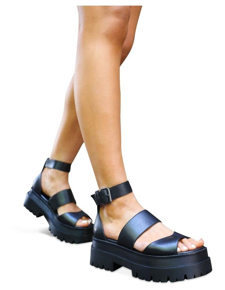 Thrilled Black Leather Sandal image 2