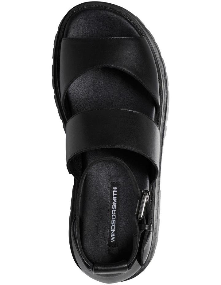 Thrilled Black Leather Sandal image 3