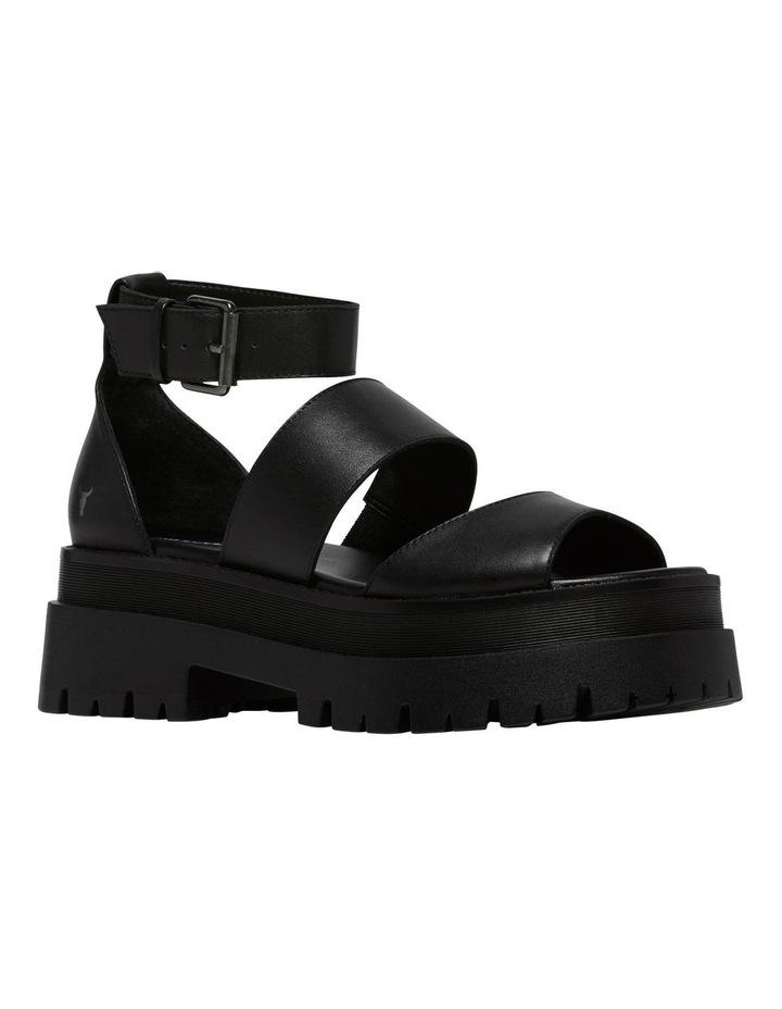 Thrilled Black Leather Sandal image 4