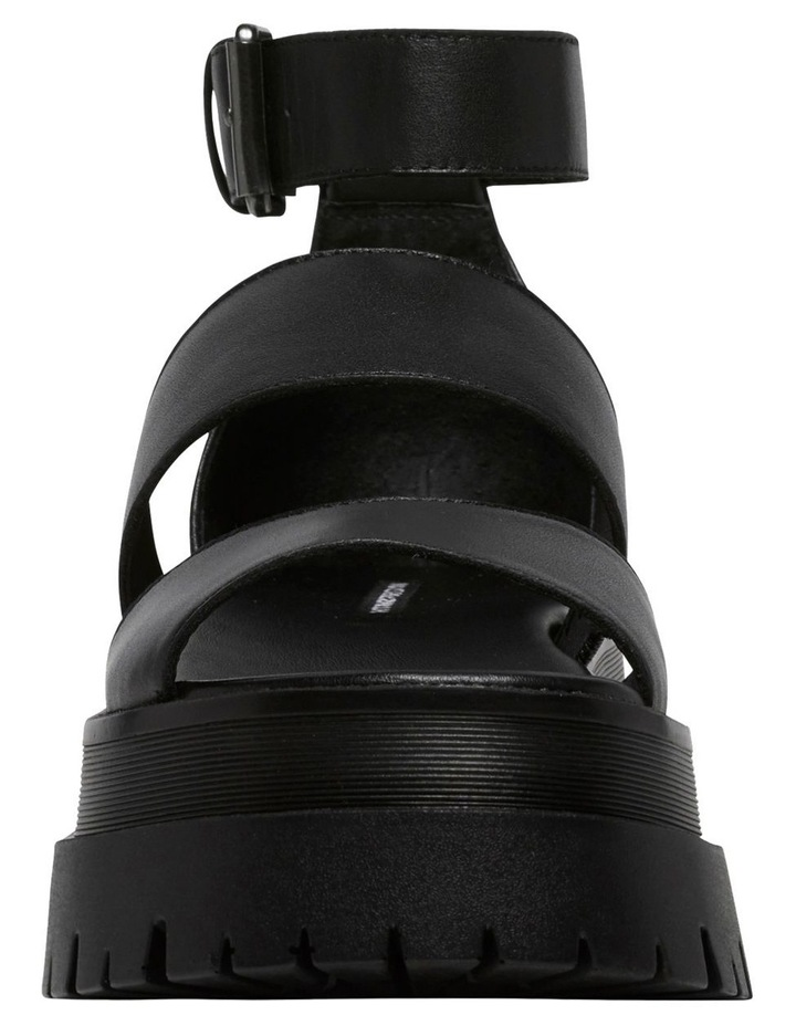 Thrilled Black Leather Sandal image 5