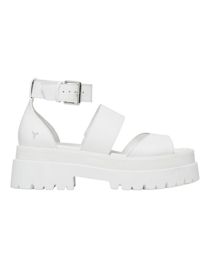 Thrilled White Leather Sandal image 1