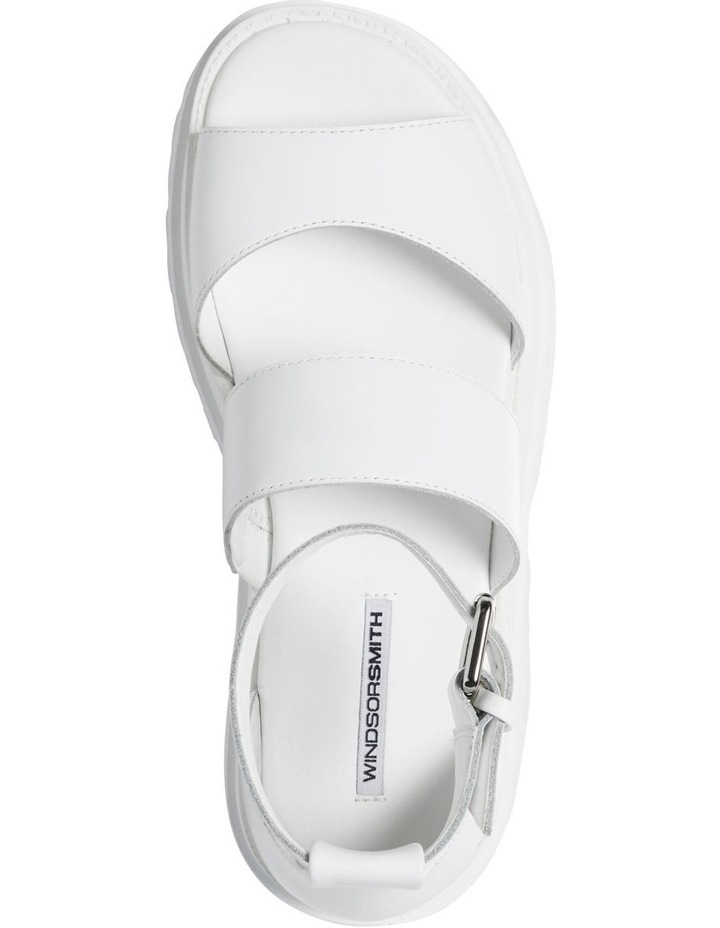 Thrilled White Leather Sandal image 3