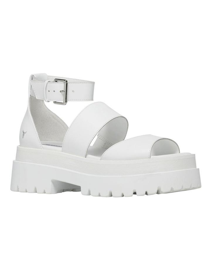 Thrilled White Leather Sandal image 4