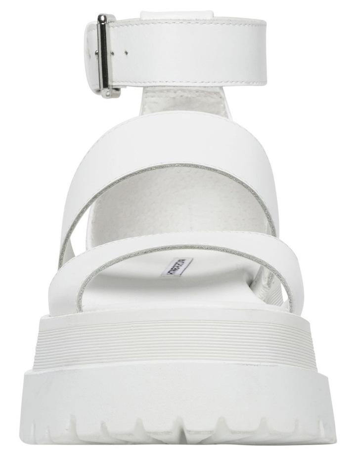 Thrilled White Leather Sandal image 5