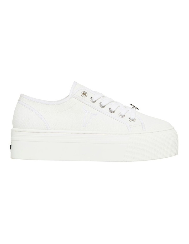 Ruby White Canvas Sneaker image 1