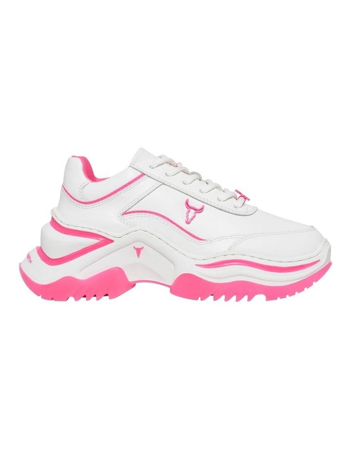 Chaos White Neon Pink Sneaker image 1