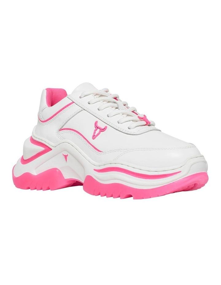 Chaos White Neon Pink Sneaker image 2