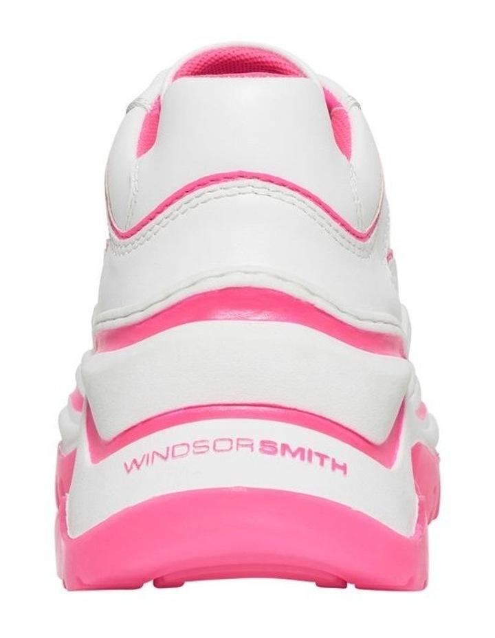 Chaos White Neon Pink Sneaker image 3