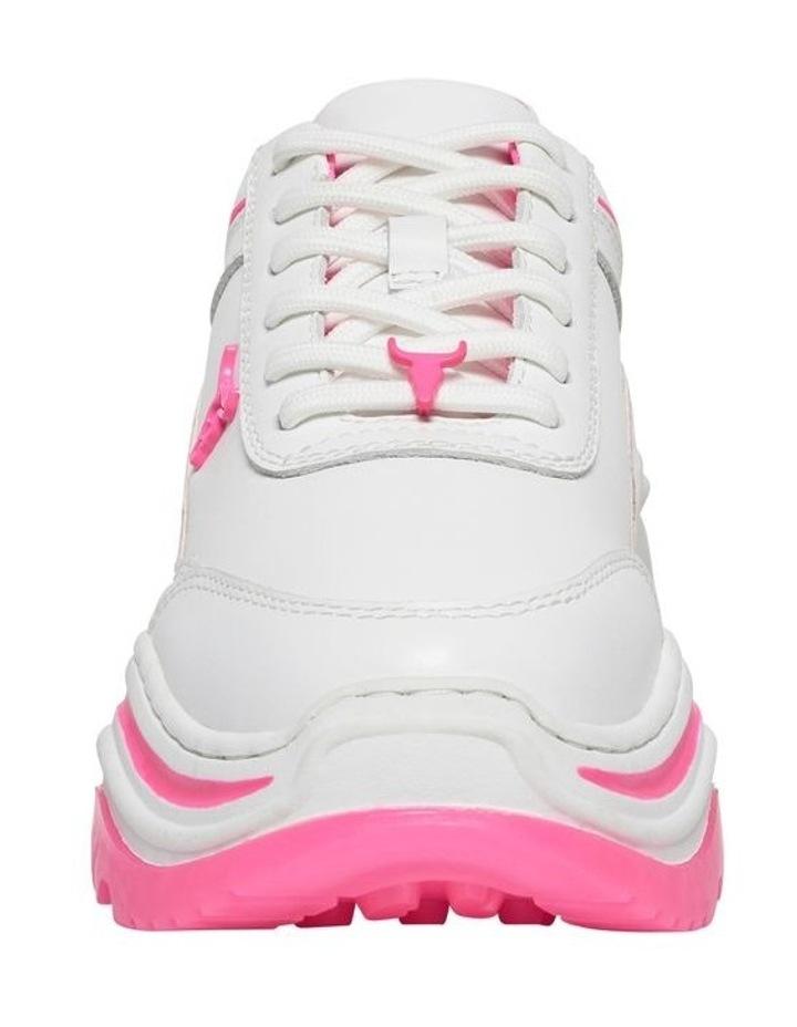 Chaos White Neon Pink Sneaker image 4