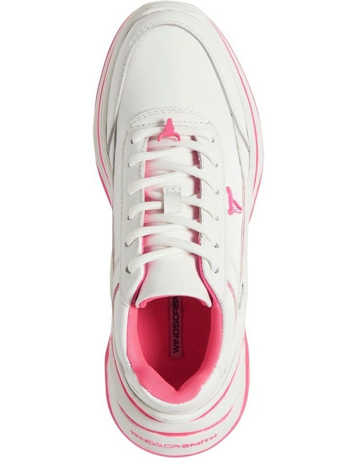 Chaos White Neon Pink Sneaker image 5