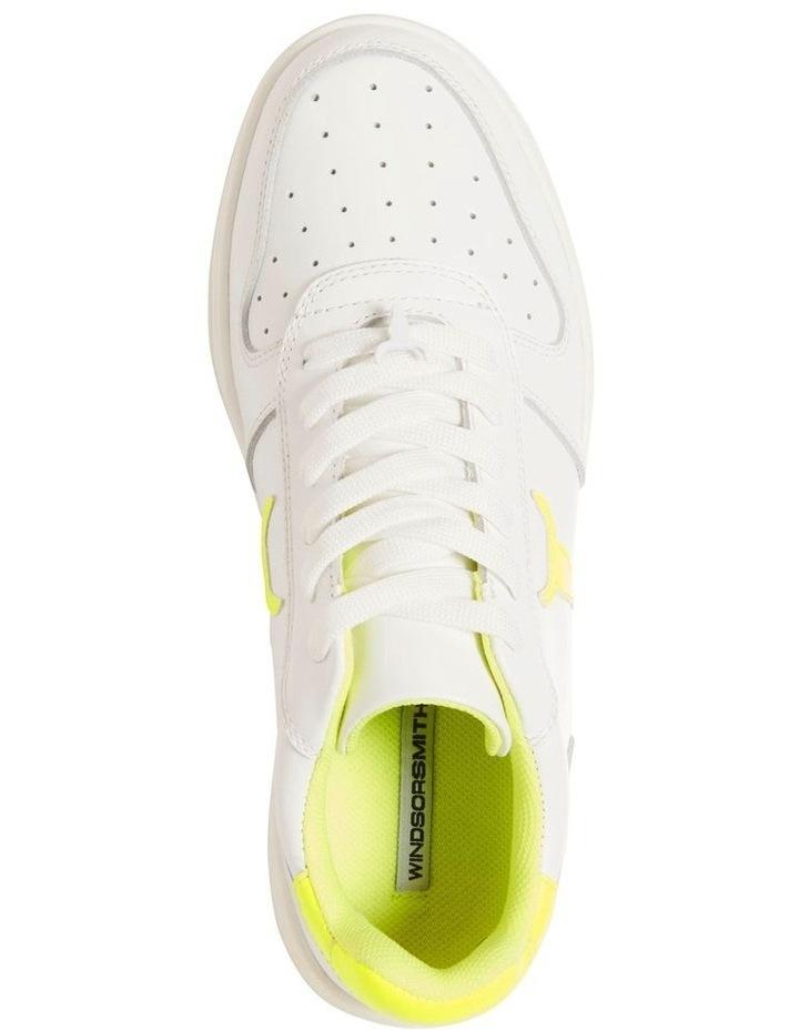 Universe-W White Neon Yellow Sneaker image 5