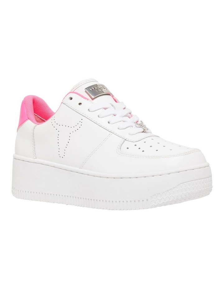 Rich White with Neon Pink Sneaker image 2