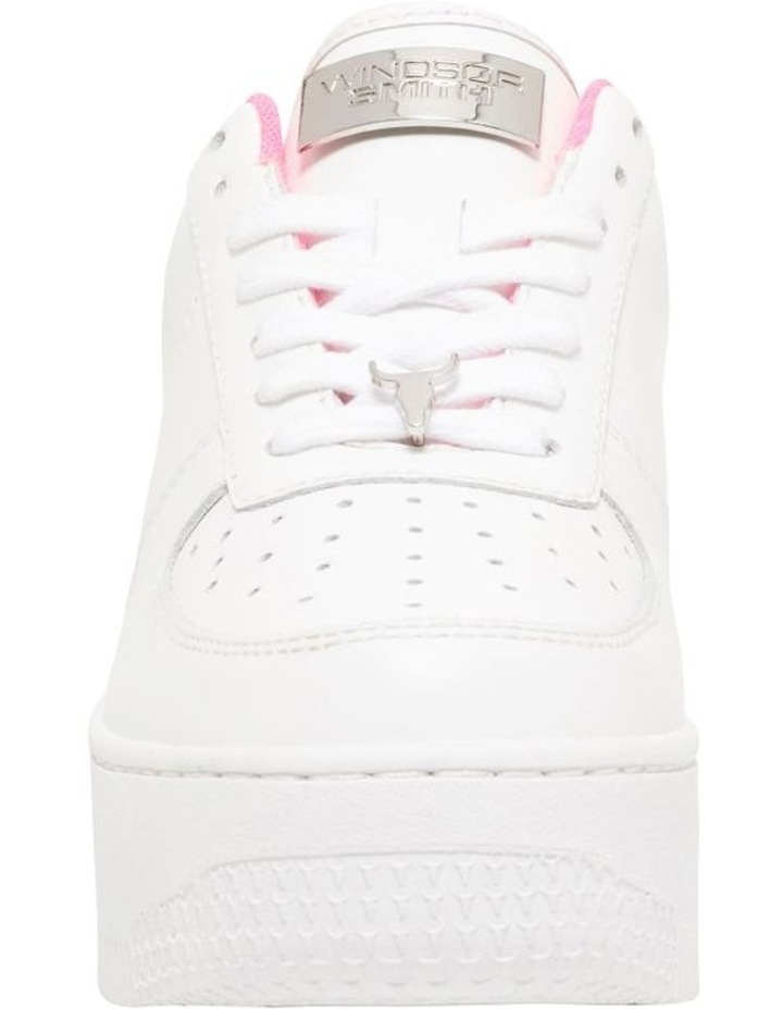 Rich White with Neon Pink Sneaker image 4