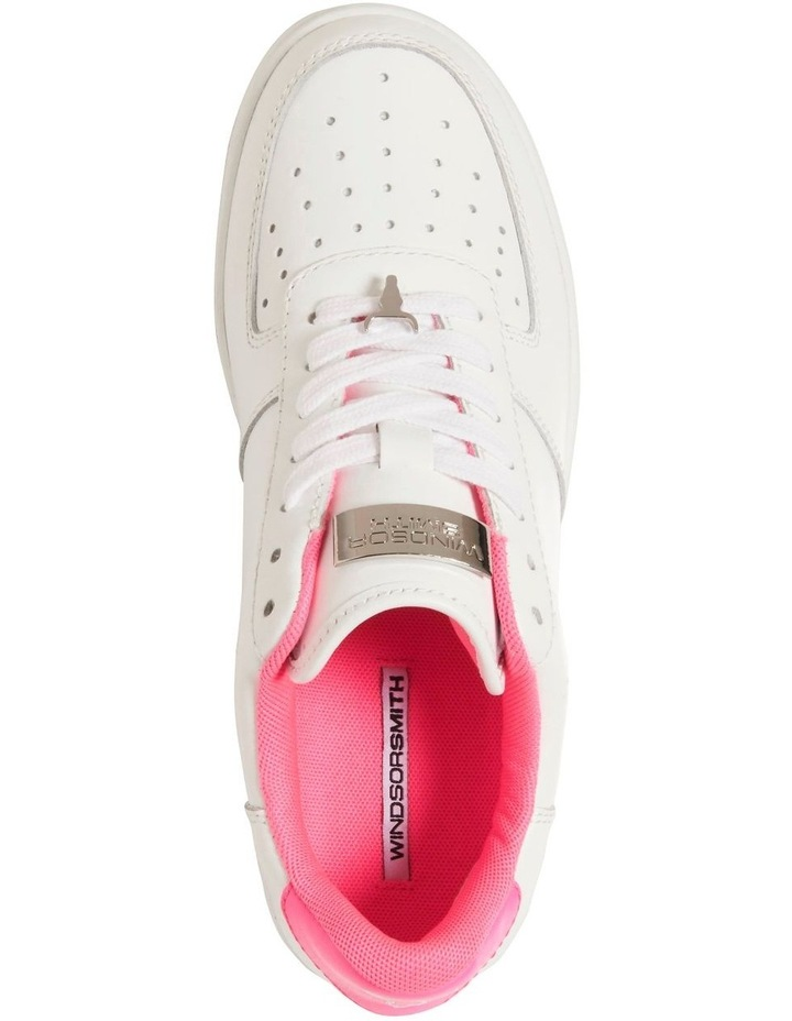 Rich White with Neon Pink Sneaker image 5