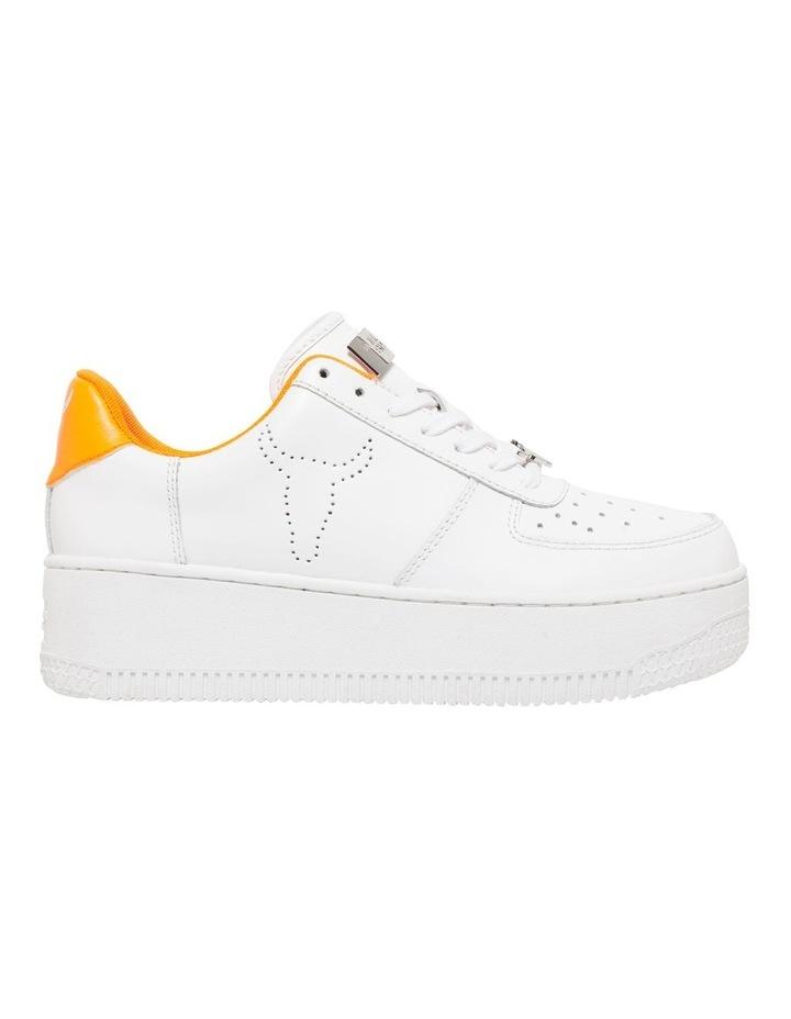 Rich White/Neon Orange Sneaker image 1