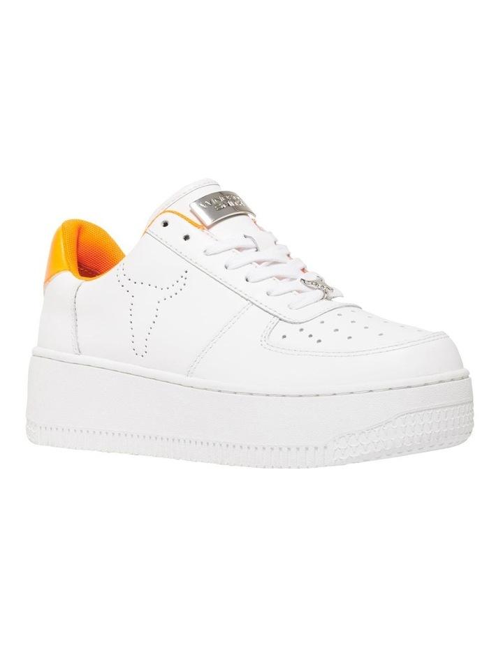 Rich White/Neon Orange Sneaker image 2