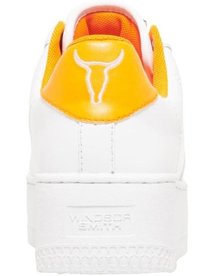Rich White/Neon Orange Sneaker image 3
