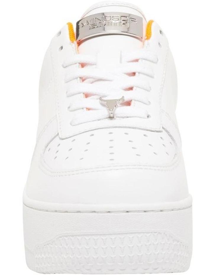 Rich White/Neon Orange Sneaker image 4