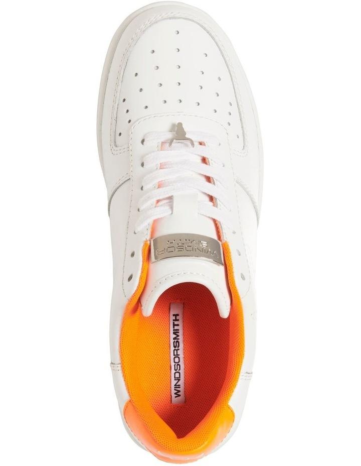 Rich White/Neon Orange Sneaker image 5