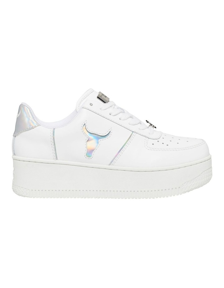 Rosy White And Silver Sneaker image 1