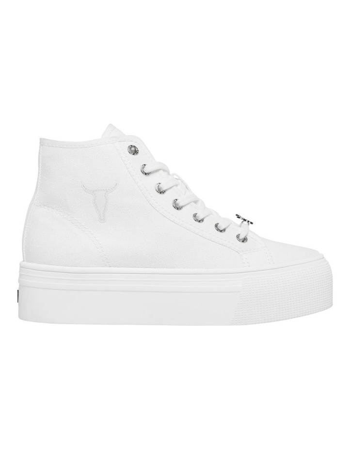 Runaway White Canvas Flatform Sneaker image 1