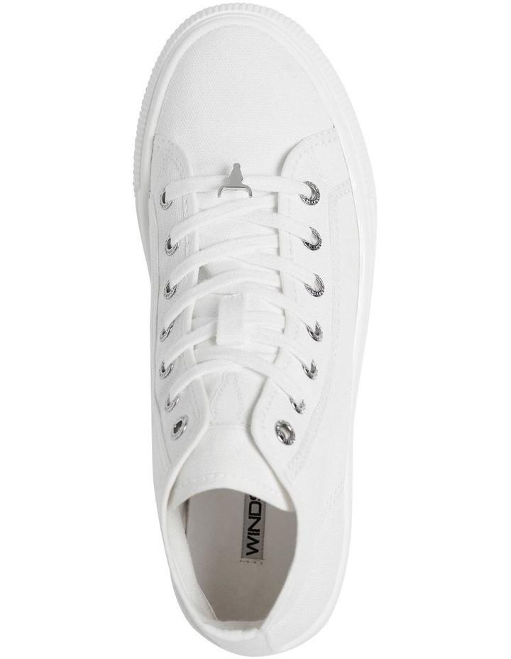 Runaway White Canvas Flatform Sneaker image 2