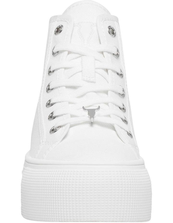 Runaway White Canvas Flatform Sneaker image 4
