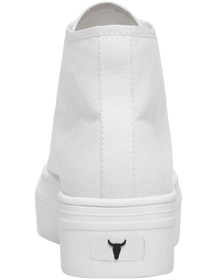 Runaway White Canvas Flatform Sneaker image 5