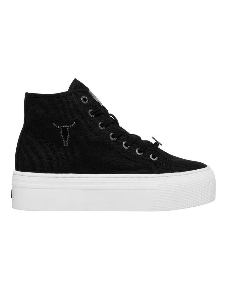 Runaway Black Canvas Flatform Sneaker image 1