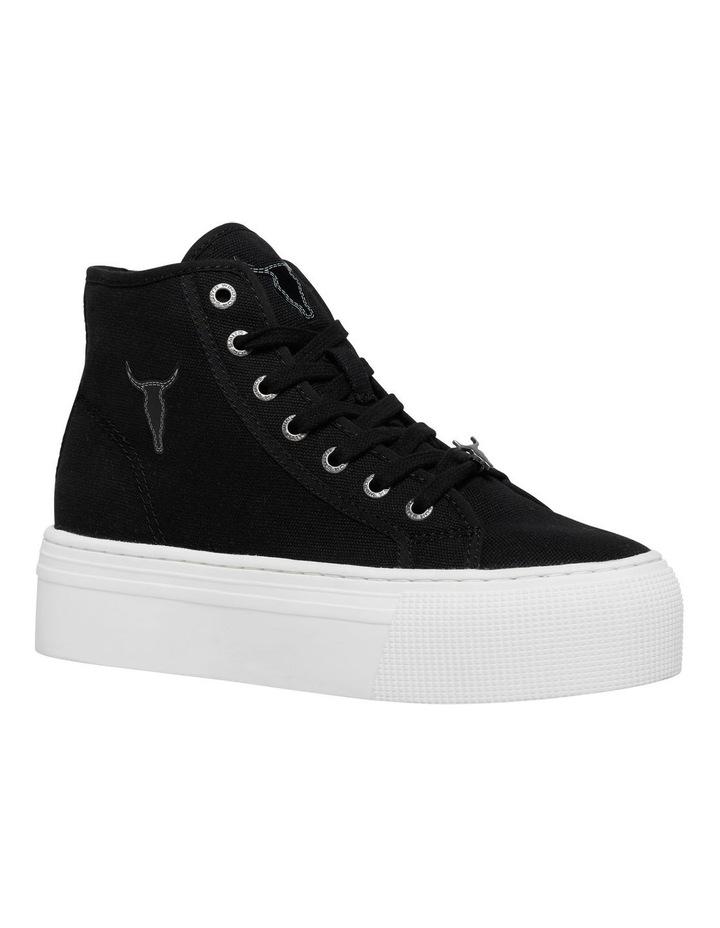 Runaway Black Canvas Flatform Sneaker image 3