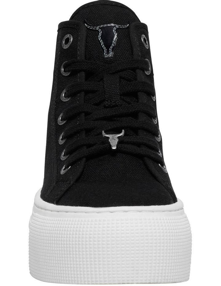Runaway Black Canvas Flatform Sneaker image 4