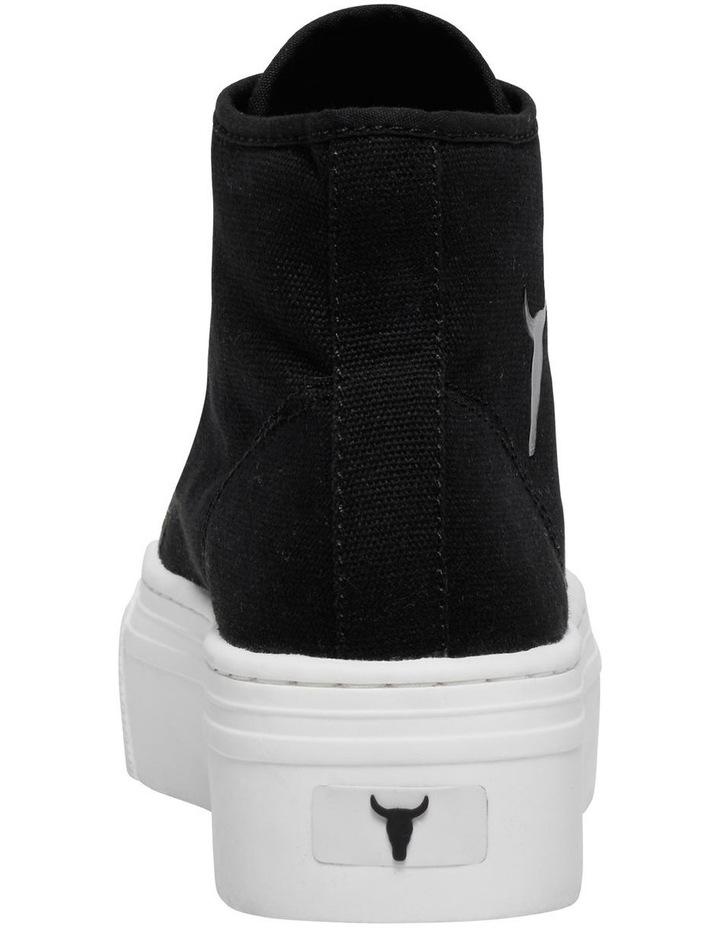 Runaway Black Canvas Flatform Sneaker image 5