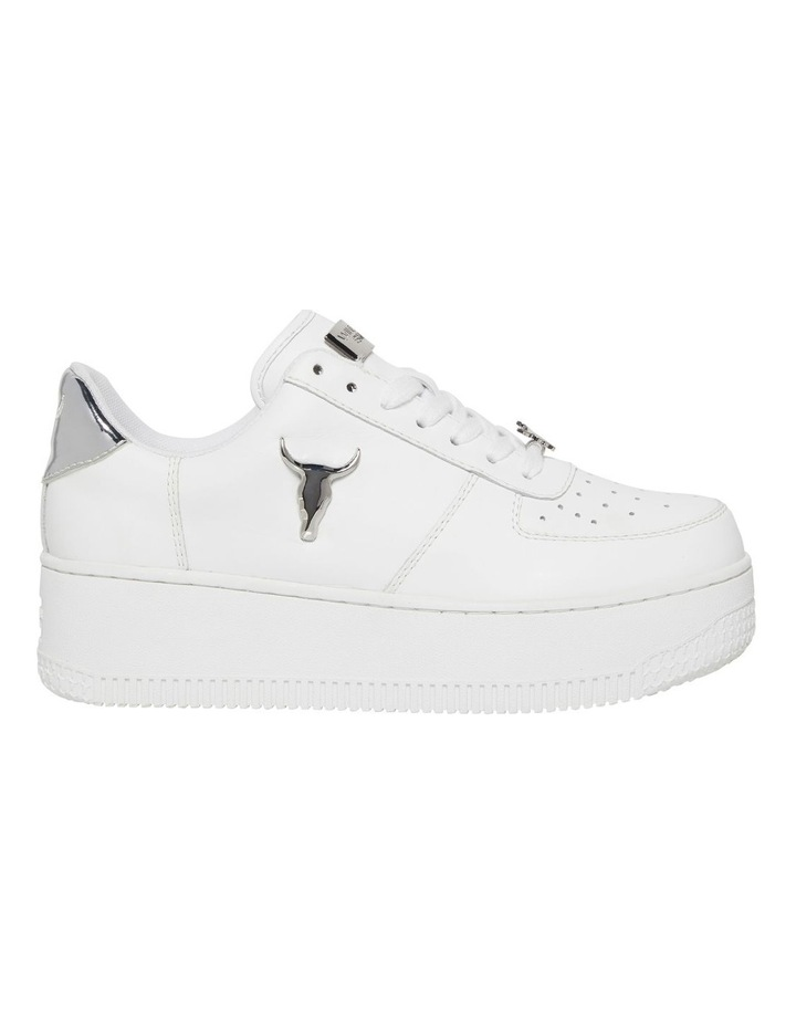 Rich White with Silver Sneaker image 1