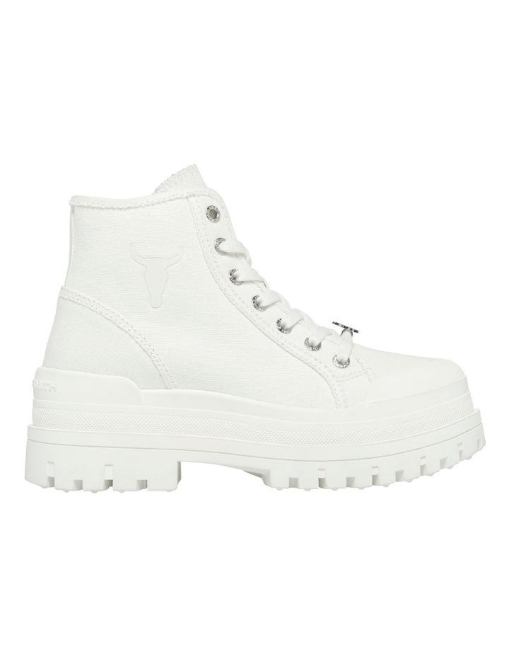Deserve White Canvas Boot image 1