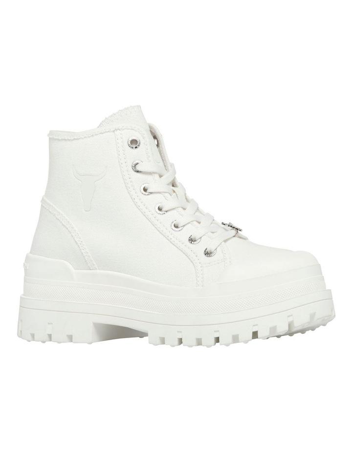 Deserve White Canvas Boot image 2